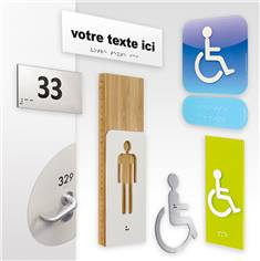 plaque de porte loi handicap, braille