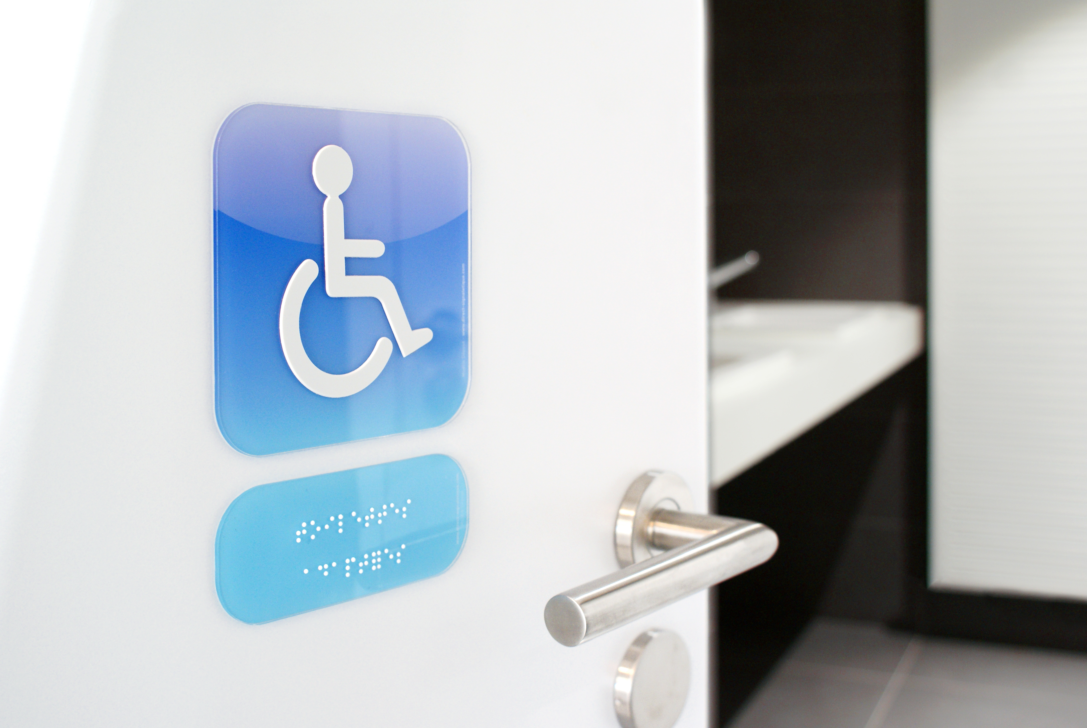 plaque de porte braille gamme icone