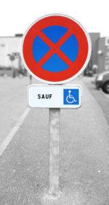 Kit stationnement handicapé