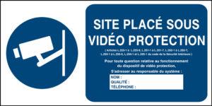 Affiche vidéo protection à compléter