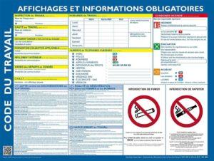 Affiche Code du travail et informations obligatoires