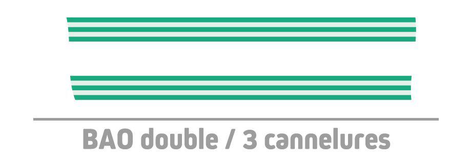 bande de guidage 3 cannelures