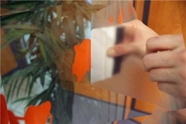 bande signalétique porte vitrée