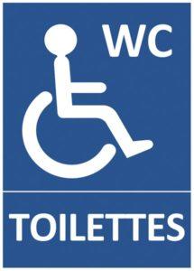 signalétique toilettes PMR