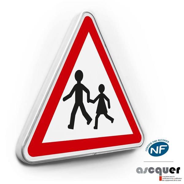 panneau de danger enfant A13a