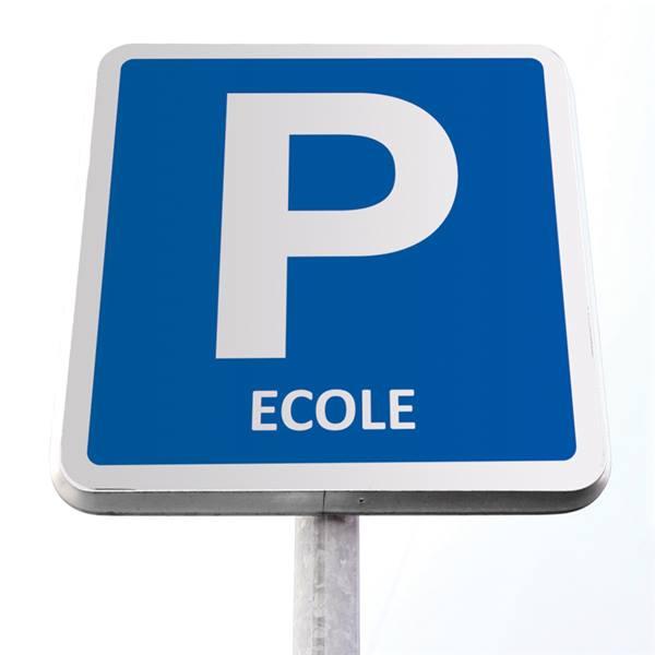 panneau de parking école